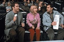 Ferrell (left), Mitchell, and Steve Carell: Very high concept and on its way to interesting.