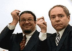 Penn and Teller: One of them was talkier than the other.