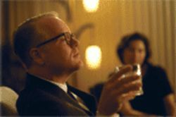 Hoffman as Capote: The tidy little tale got messy.